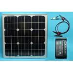Saulės baterija automobilio, valties ir kt. akumuliatorių krovimui, 10W